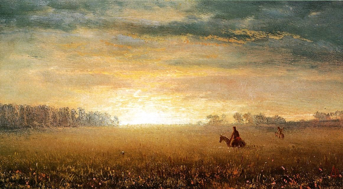 Bierstadt_Albert_Sunset_of_the_Prairies
