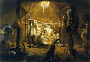Copia de Interior_of_the_Hut_of_a_Mandan_Chief